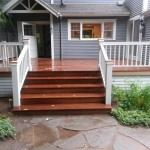 Ironwood Deck, Steps and Custom Wood Craftsman Rails