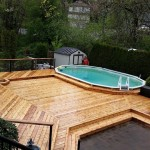 Cedar Deck around pool and Hot Tub