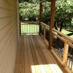 Cedar deck with Dekorator pickets