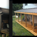 Before and After wrap around porch