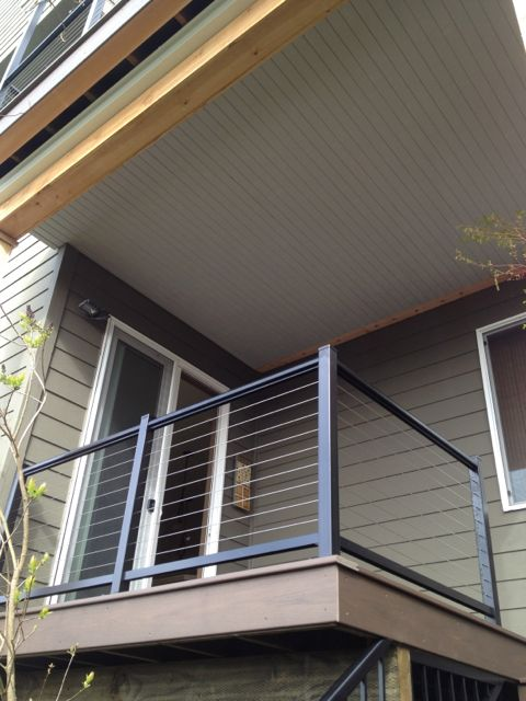 Deck and overhang buildstrong construction for Balcony overhang