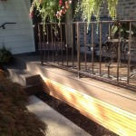 Deck w/designer metal rail