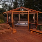 Hot Tub w/Ironwood decking & gazebo & Alumarail