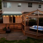 Hot Tub w/Ironwood decking & gazebo