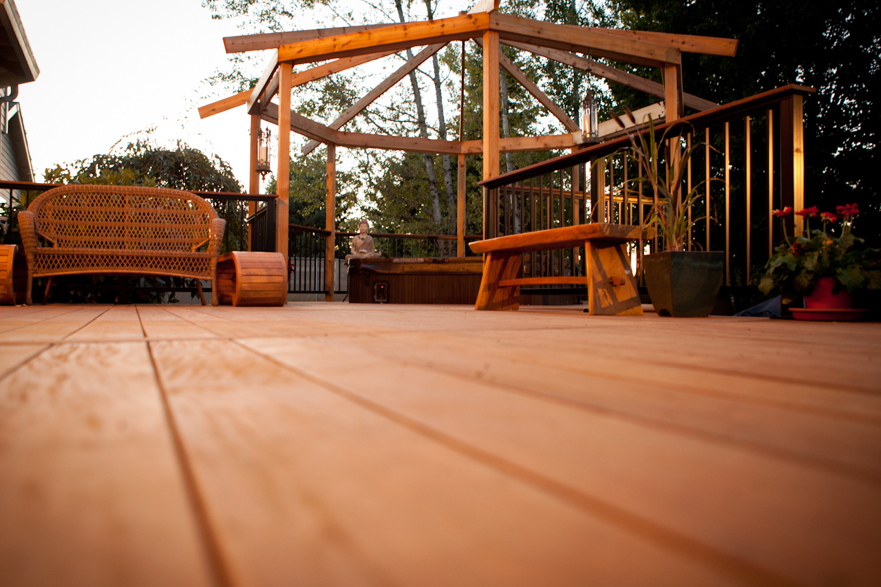 Iorn Wood Decking with Gazabo