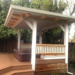 Craftsman hot tub cover, rails, timbertech deck