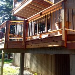 Cedar decking and custom rails
