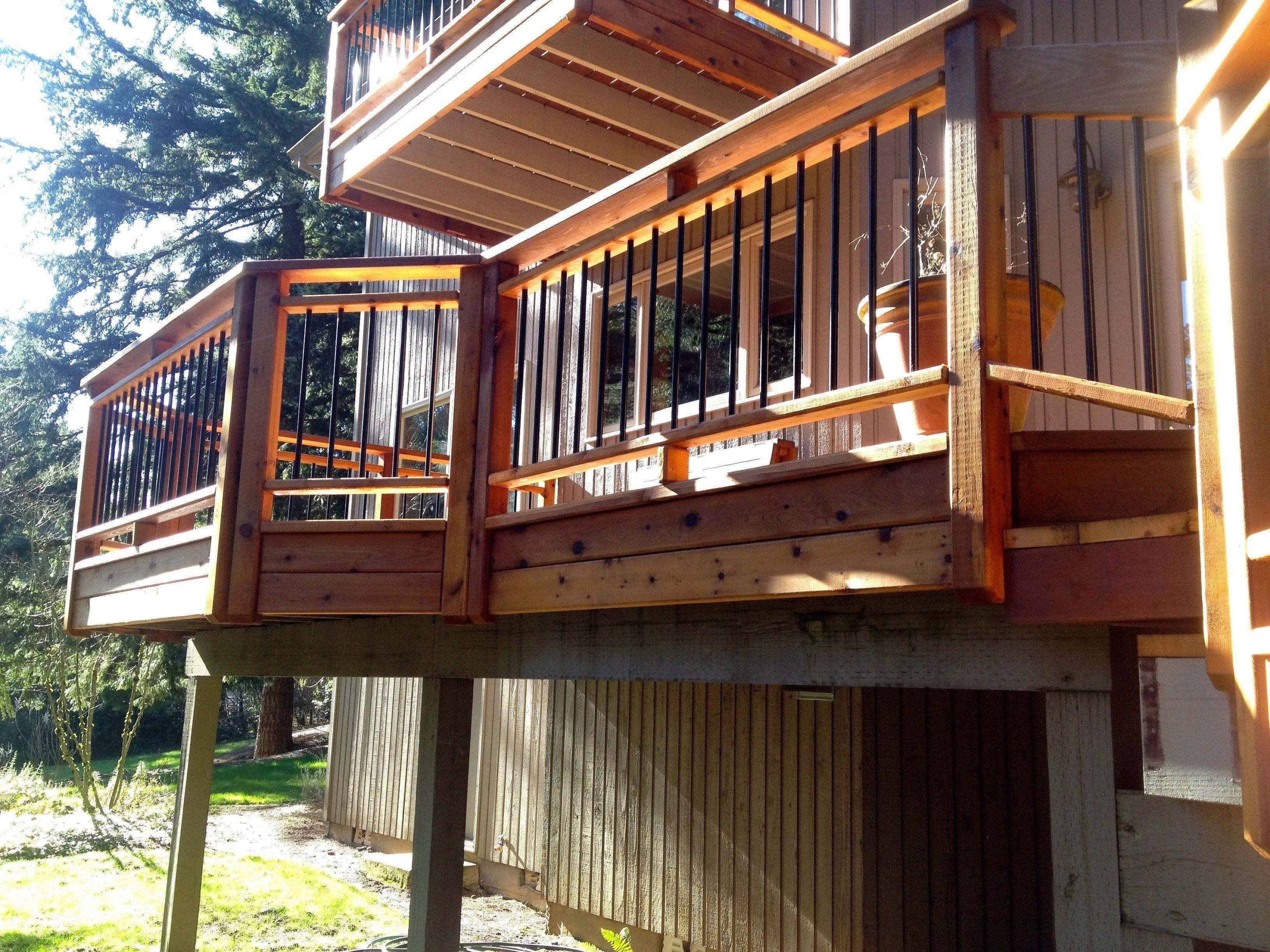 Cedar Posts and Rails with Aluminum pickets