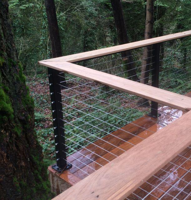 Cable Rail and Ironwood railing
