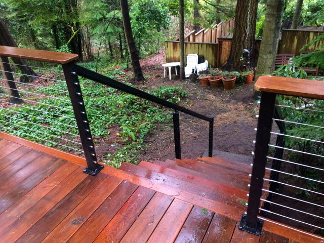 Ironwood Steps and Stainless Cable rail