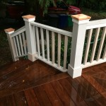 Custom wood Craftsman rails, painted