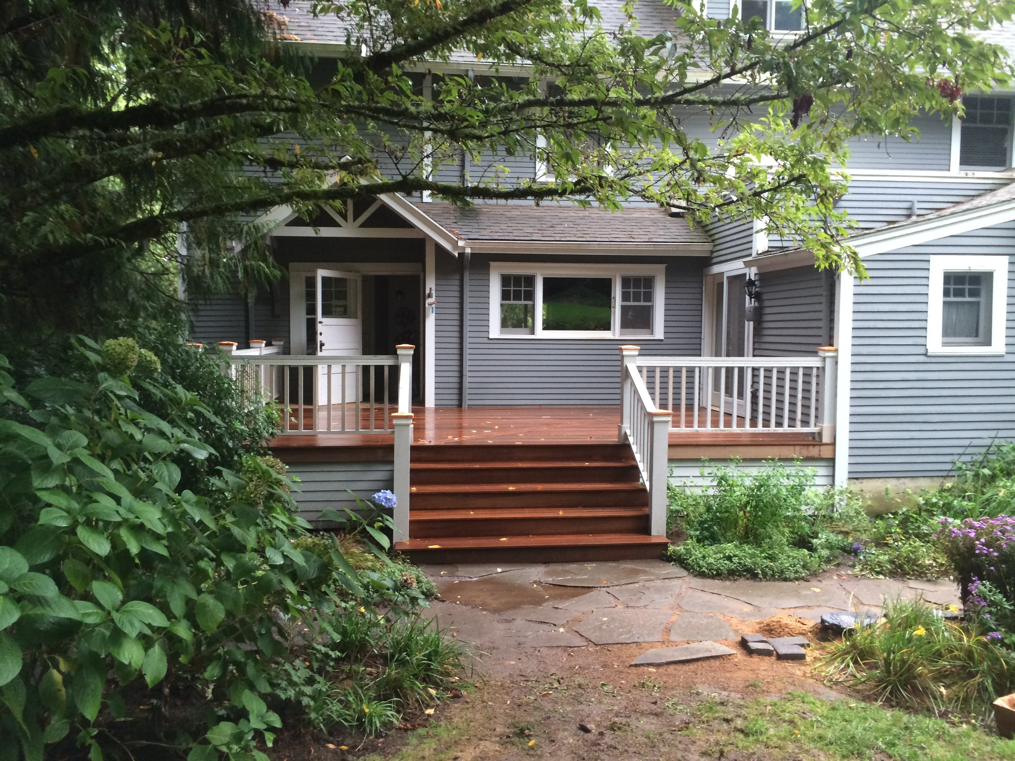 Ironwood Deck, Craftsman Rails and under deck wrap