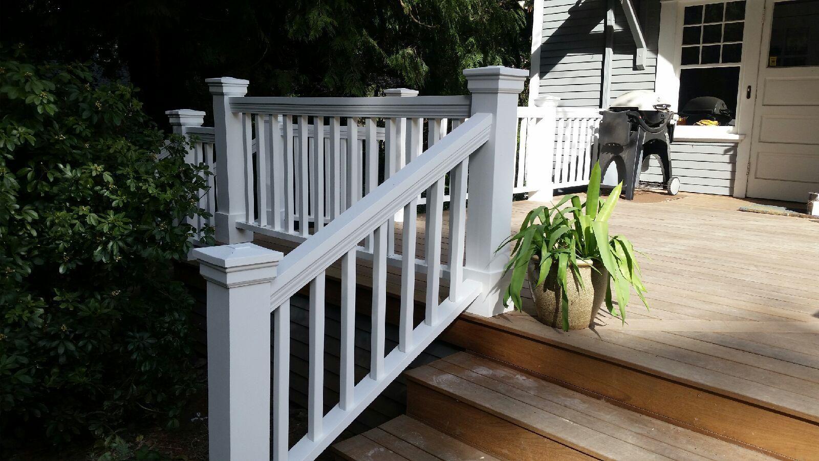 Custom wood Craftsman rails, painted