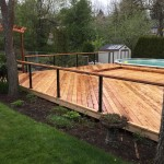 Cedar Decking, Cable Rail with wood top rail