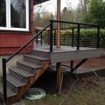 Cable rails and Timbertech steps