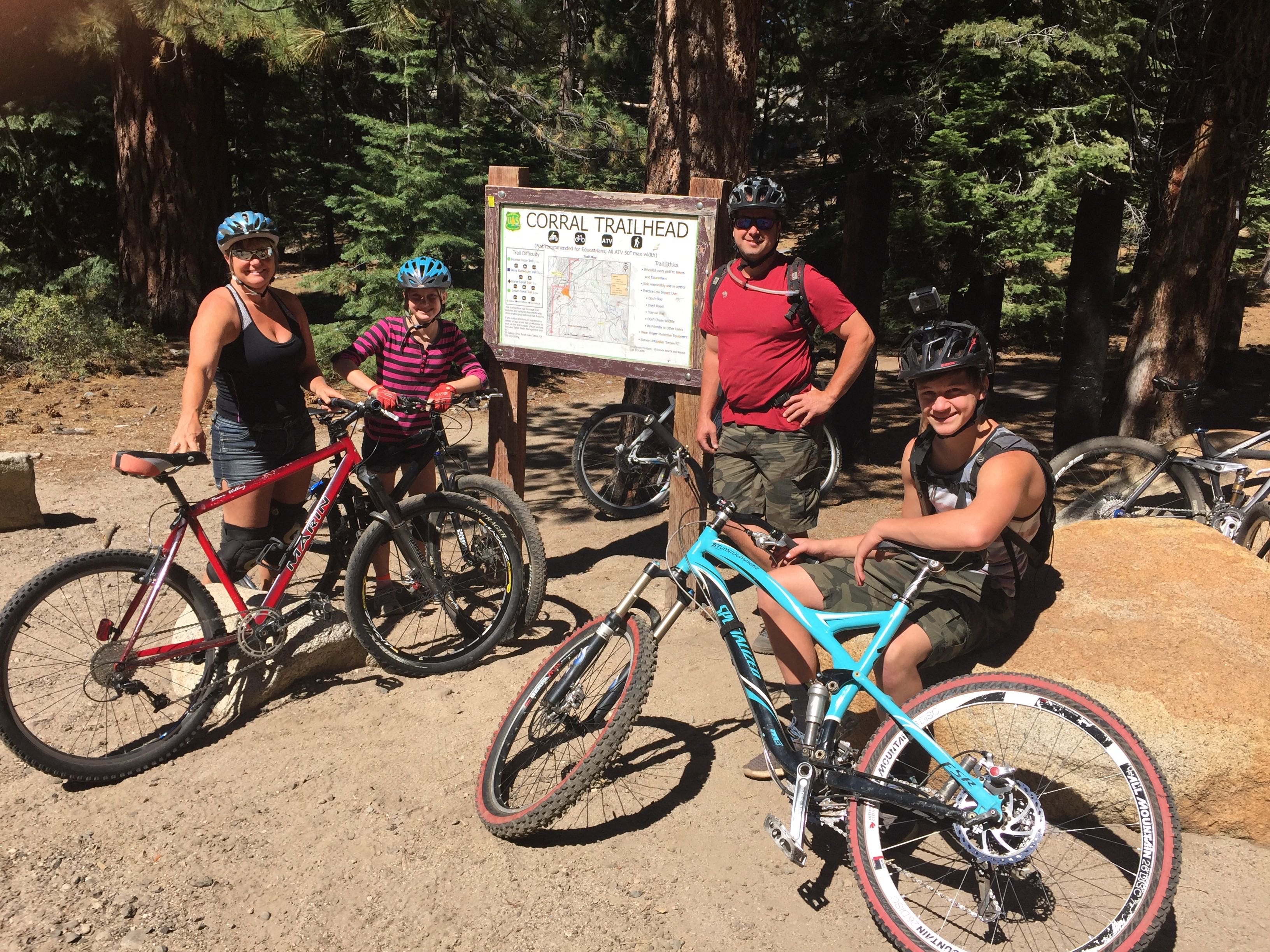 Family Mt Biking - 2016