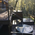 Trex Composite decking and Alumarail railings with cable