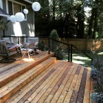 Cedar Deck with cable rail