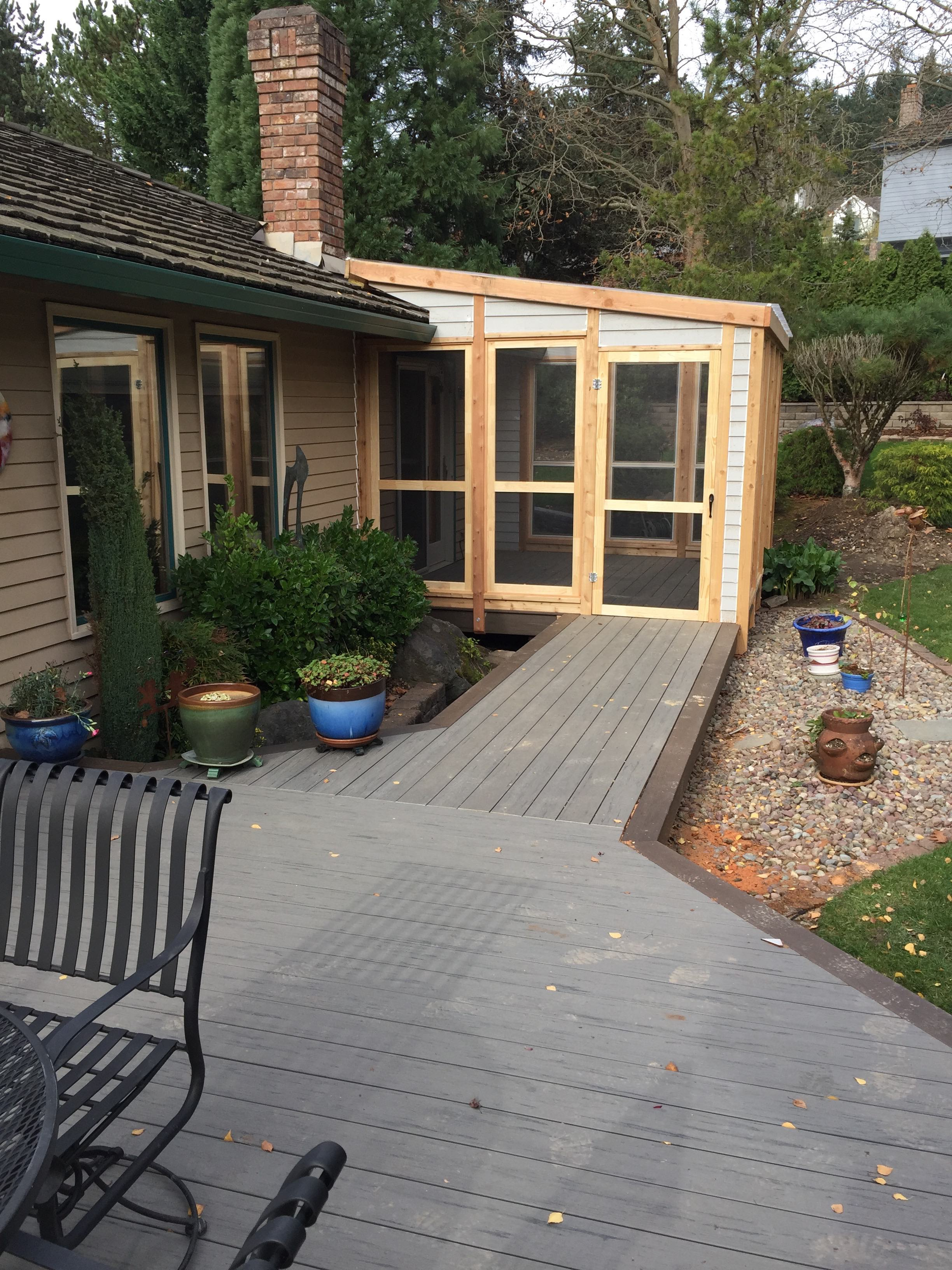 Timbertech Deck and screened in Cataco