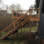 Timbertech Steps w/cedar rails and Dekorator pickets