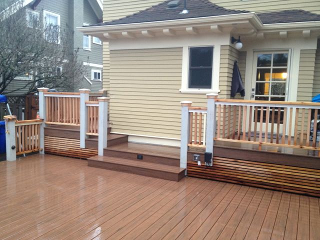 NE PDX Deck w/Timbertech Decking & Custom Rails