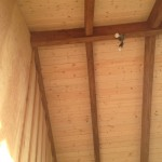 Timber framed overhang with T&G ceiling