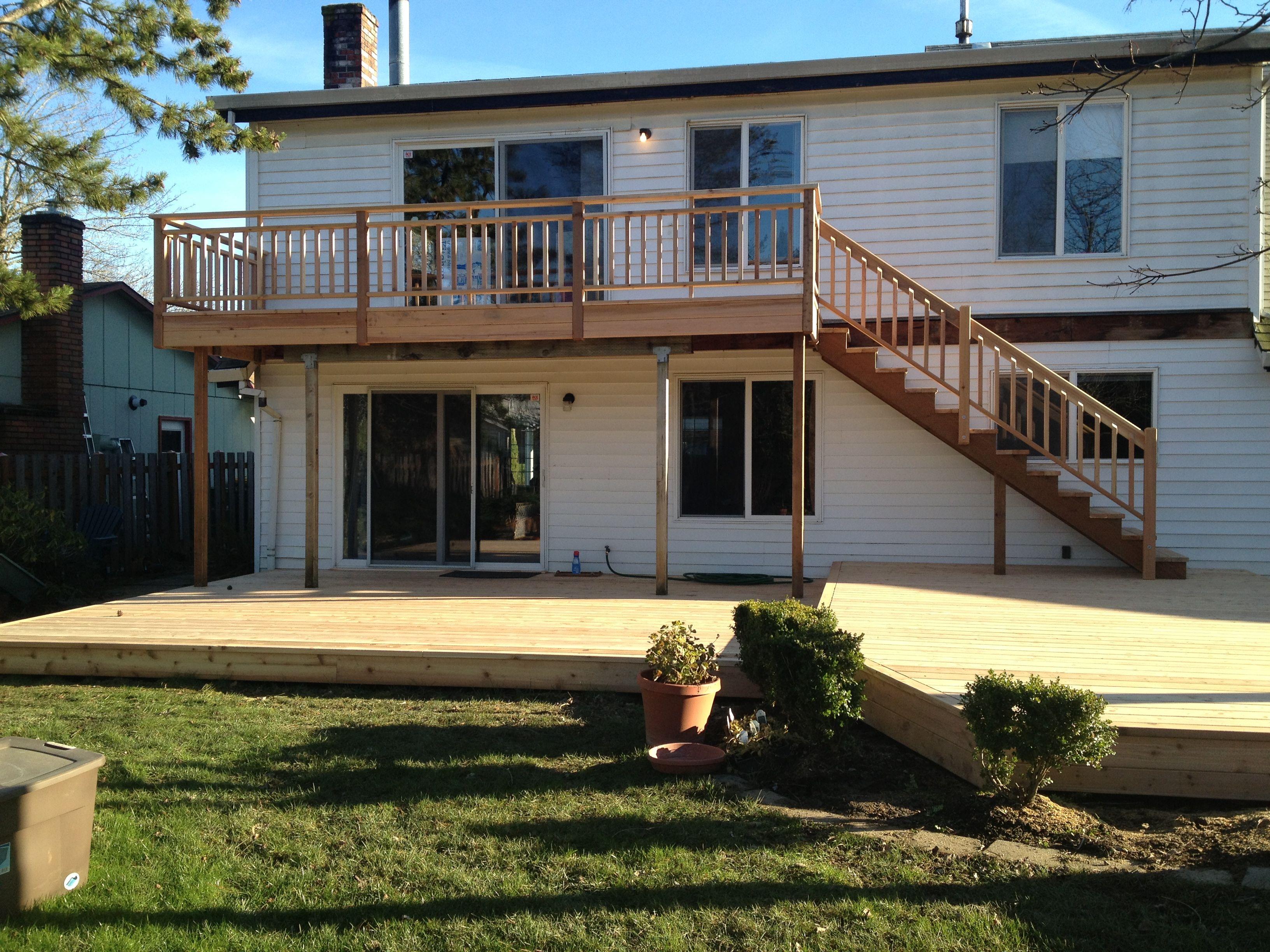Cedar Deck, Balcony, Stairs and Rails