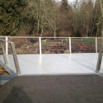 Wetlands Deck with Aquagrating, Custom Stainless Railing