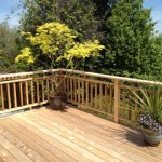 Cedar rails on Balcony deck