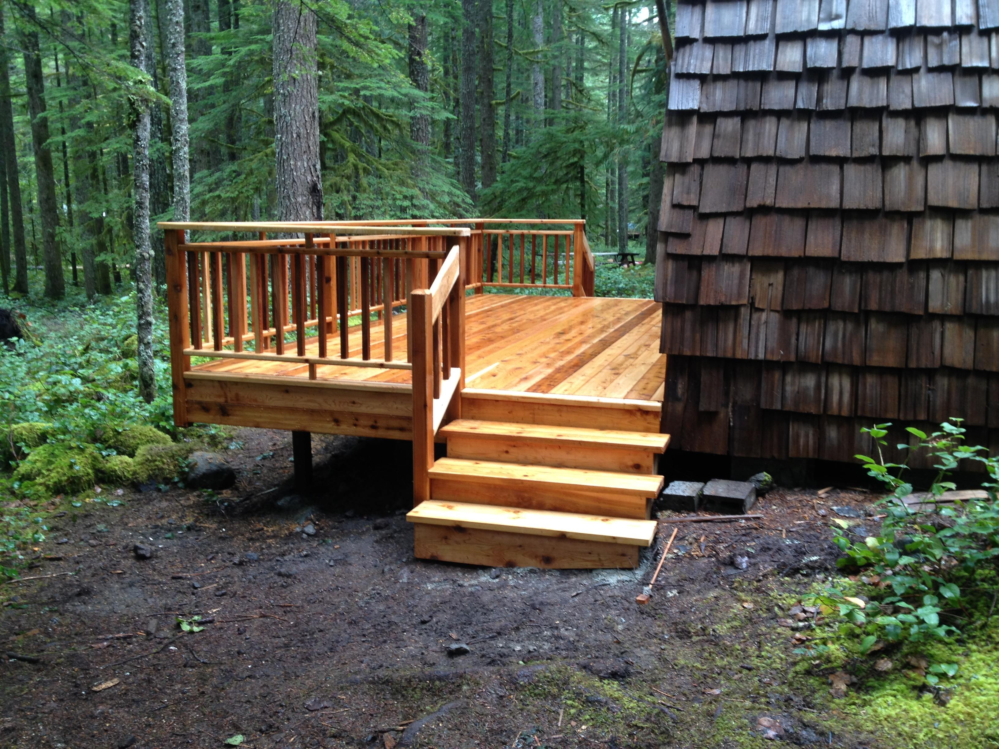 Cedar Deck, Rails and Steps