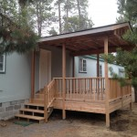 Cedar deck, rails and overhang