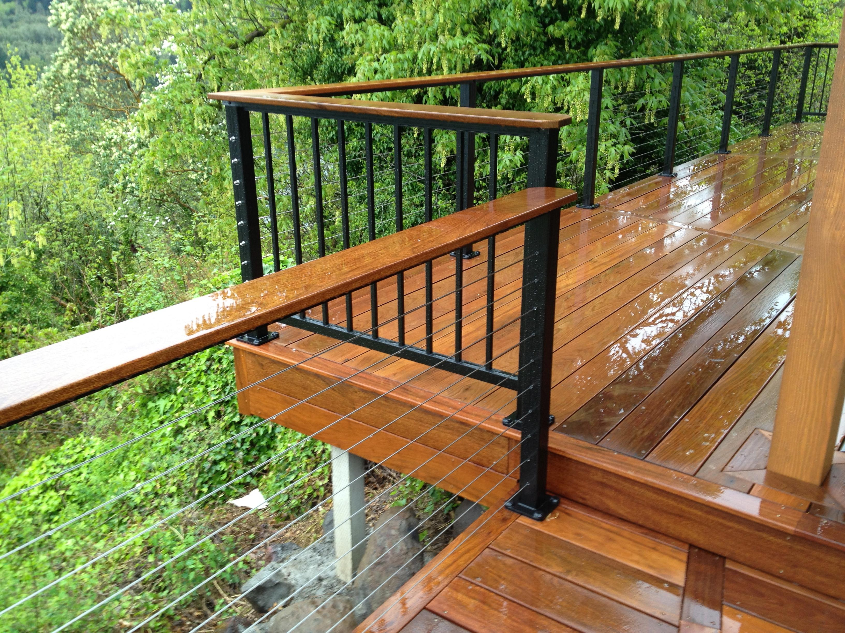Cable rail & Alumarail, Ironwood deck