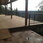 Ironwood deck w/ramp, overhang and rails