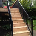 Cedar Step with Alumarail Railings
