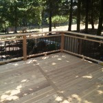 Cedar Deck with Aluminum Picket Rails