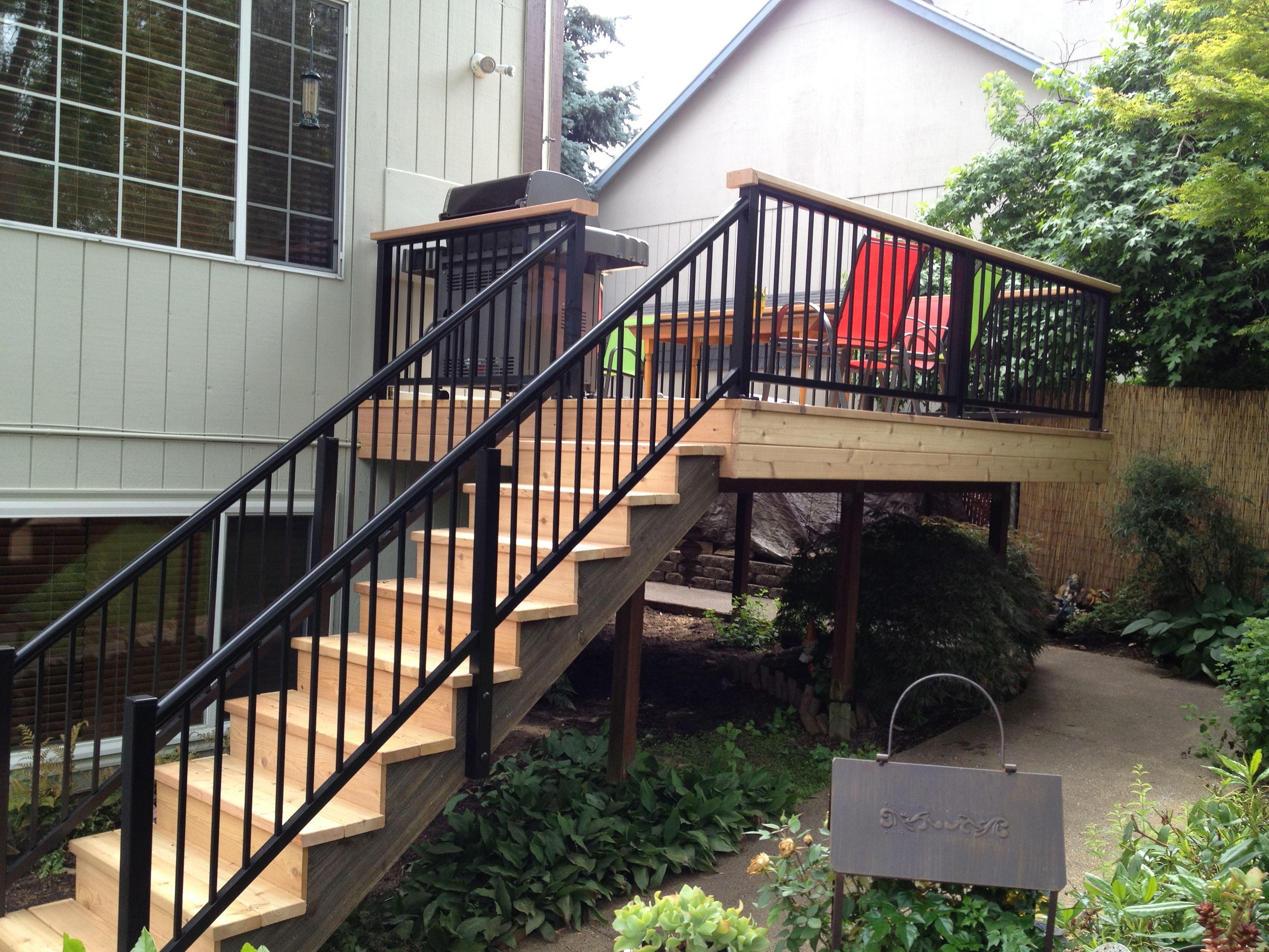 Cedar Steps w/Alumarail