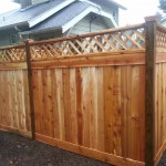 Cedar Fence with Lattice top