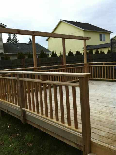 Cedar Rails & Privacy Barrier (for hanging shades)