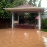 Craftsman style Hot tub Cover, Timbertech deck