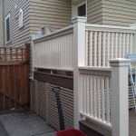 Craftsman custom wood rails with paint