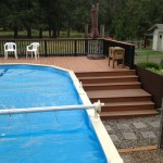 Steps and Landing around pool