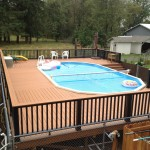 Composite Decking around pool