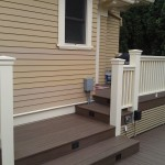 Craftsman custom rails, steps and stair lighting