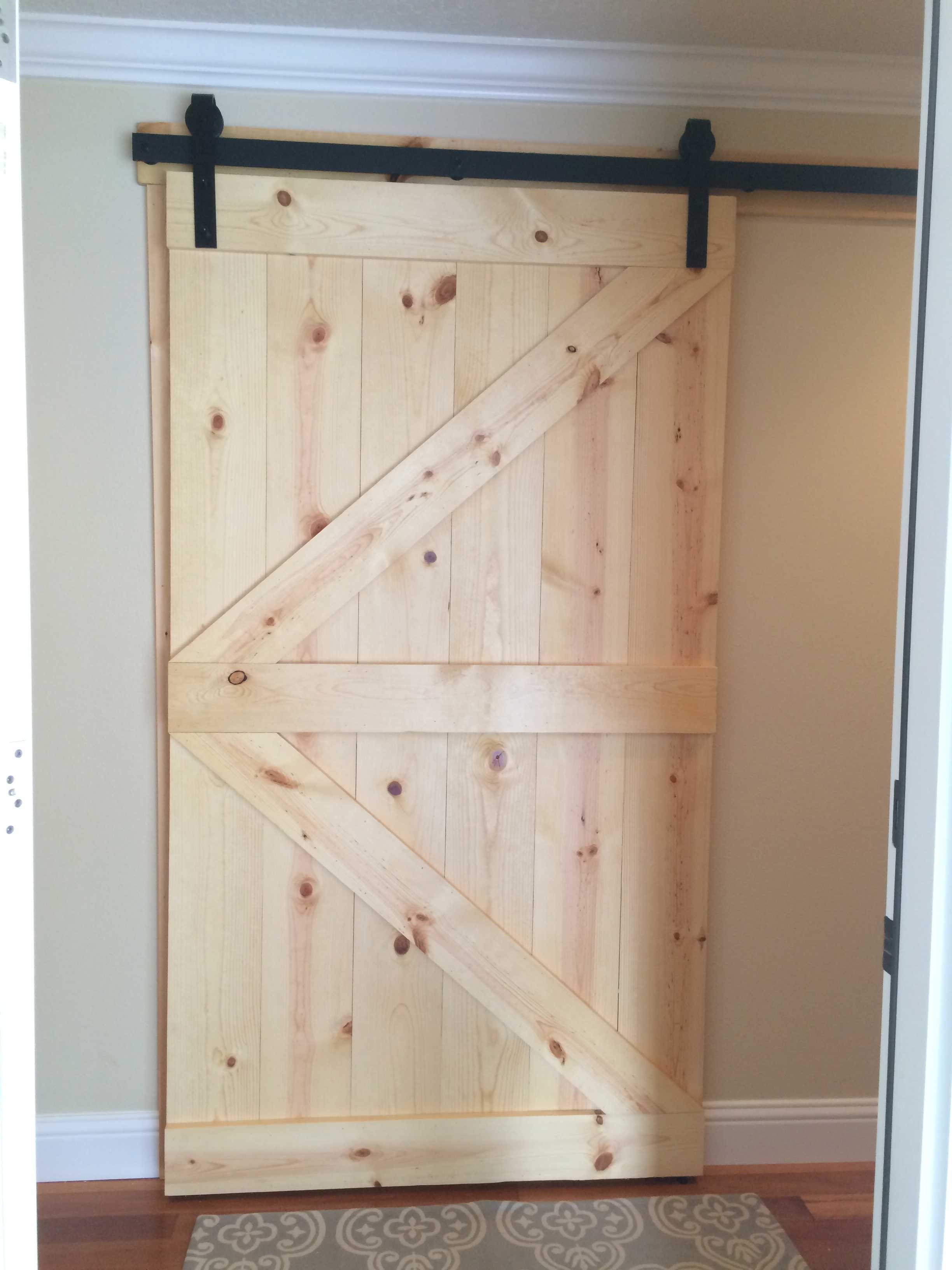 Custom Knotty Pine Barn Boor
