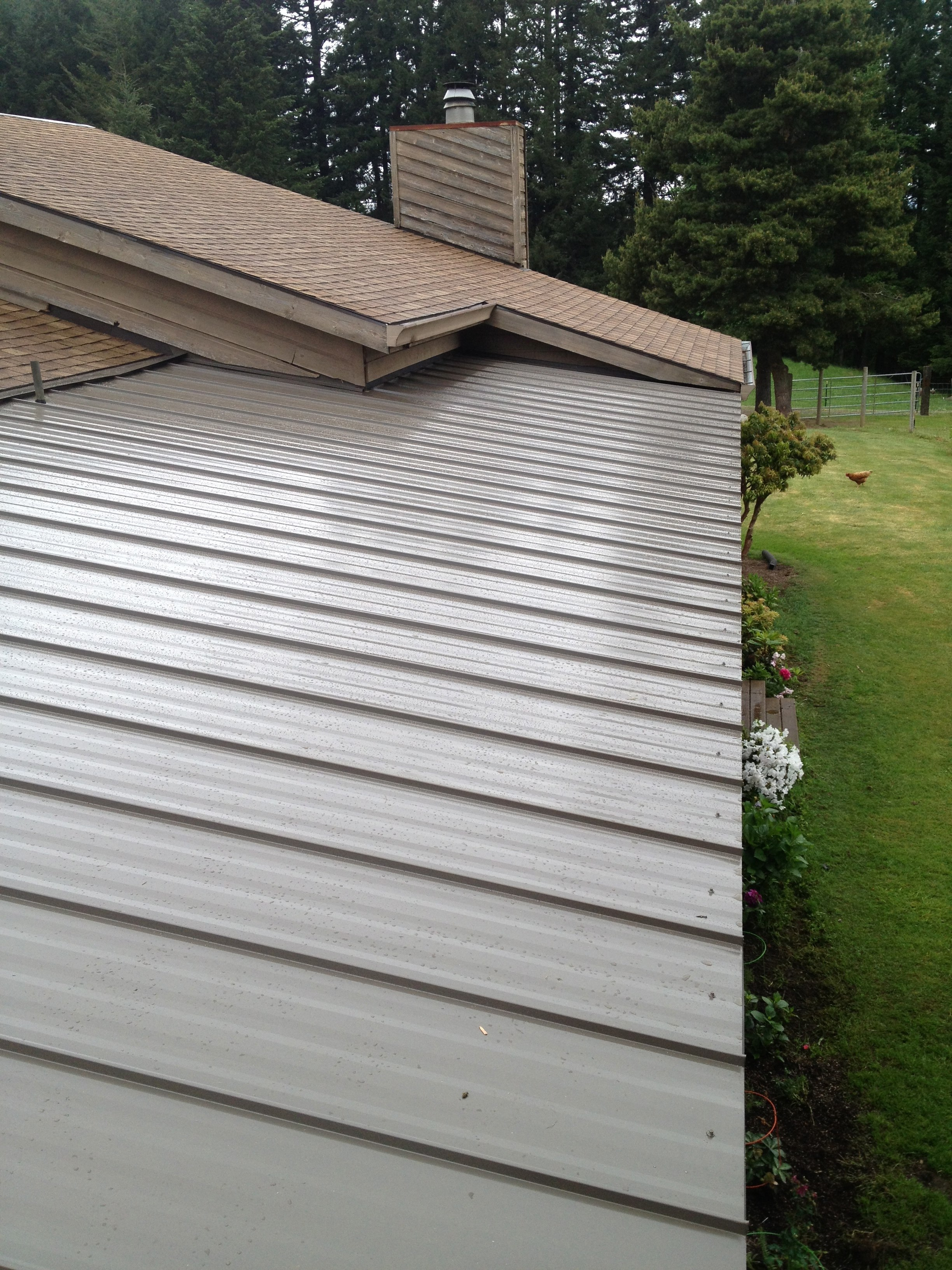 New overhang and Metal Roofing