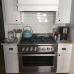 New Stove, Cabinets, Tile