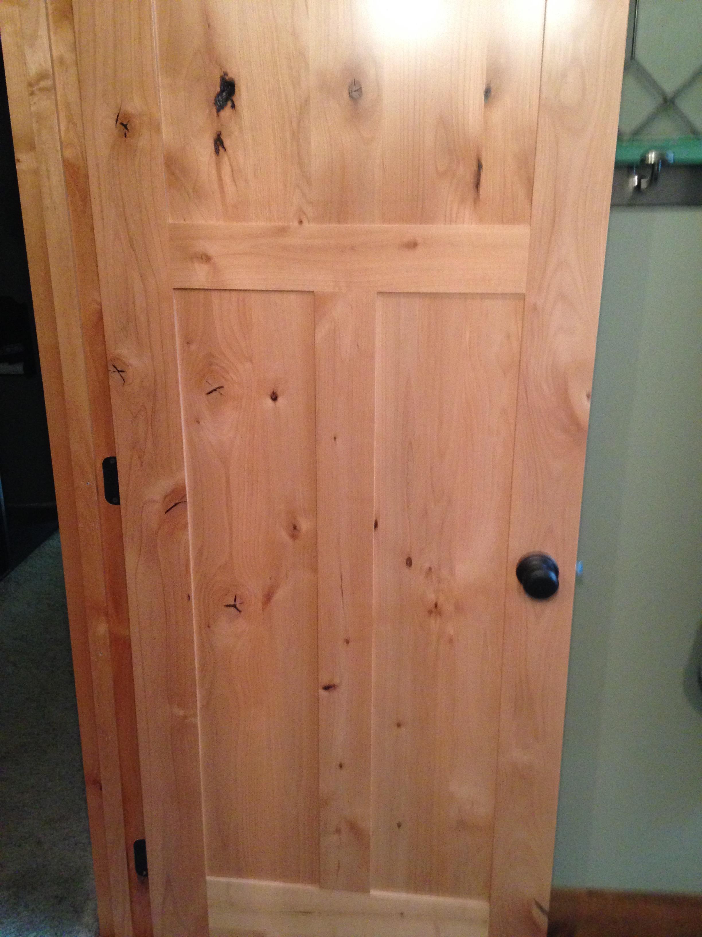 New Knotty Alder Door