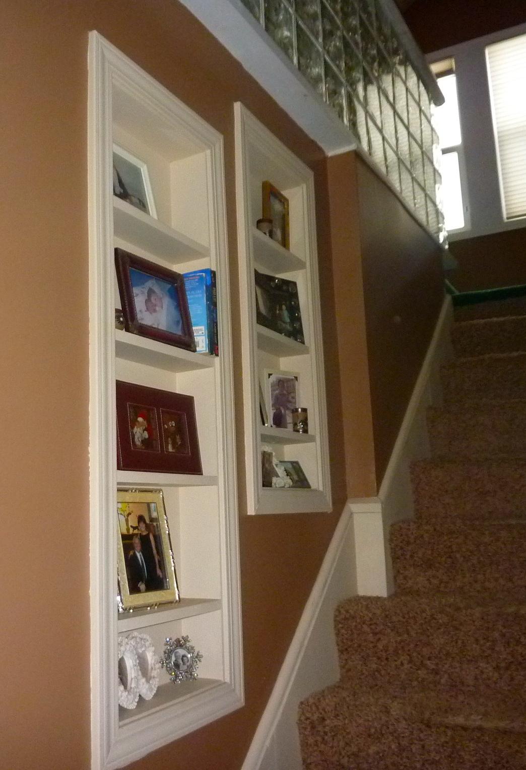 Stairway built in Shelves