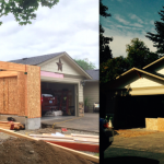 Before and After - new garage addition