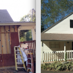 New Bay Window and Siding - before and after